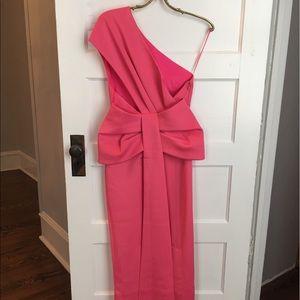 ASOS Pink Bow Evening Dress
